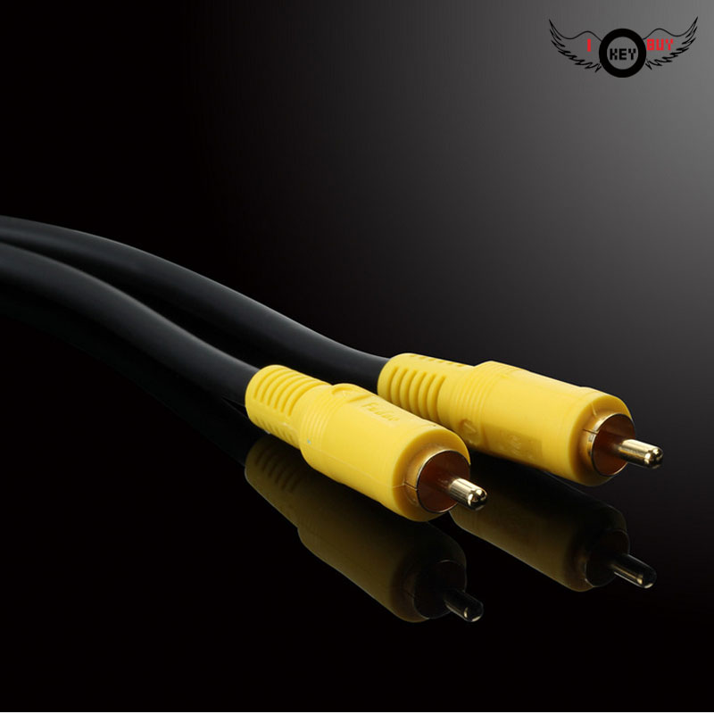 3M Coaxial Line RCA Lotus Line AV Video Cable Projector TV Line High Purity Oxygen-Free Copper Male To Male Bare Copper Wire image