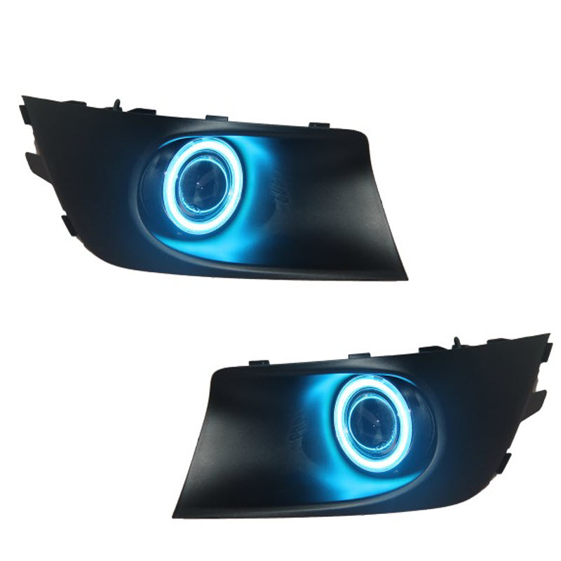 For Subaru Legacy Sedan Wagon COB Angel Eyes DRL Yellow Signal Light H11 Halogen / Xenon E13 Fog Lights with Projector Lens