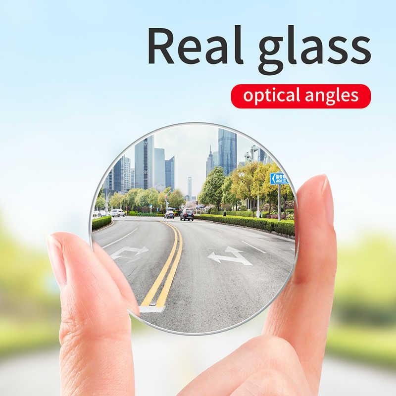 Baseus רכב מחזיק 2Pcs אחורי להציג מראה מלא-ראיית מתכוונן כתם עיוור מראה לרכב גיבוי אוטומטי עגול זכוכית מראה קמורה