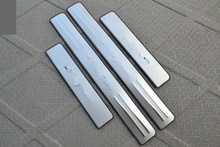 цена на Free Shipping 2014 Citroen Elysee High quality stainless steel Scuff Plate/Door Sill