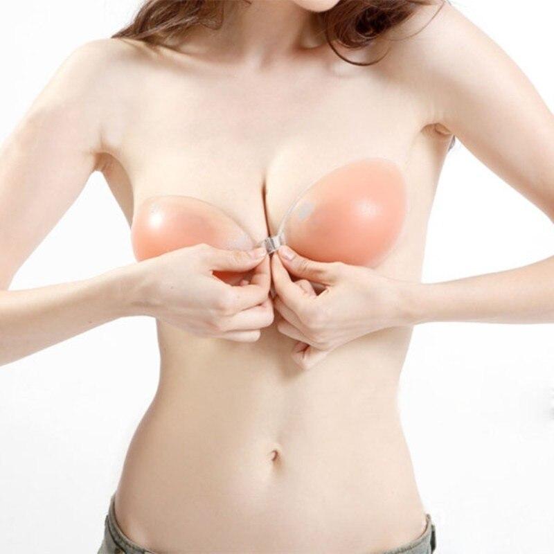 Women Petals Silicone Bra Nipple Cover Roupa Interior Invisible Sutian Adhesive Bra Sexy Pasties Bra 4