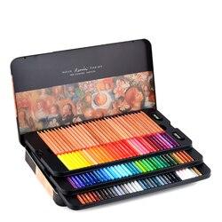 Marco Renoir Fine Профессиональный маслянистый цвет карандашей 24/36/48/72/100, цветной комплект карандашей для рисования, принадлежности для живописи д...