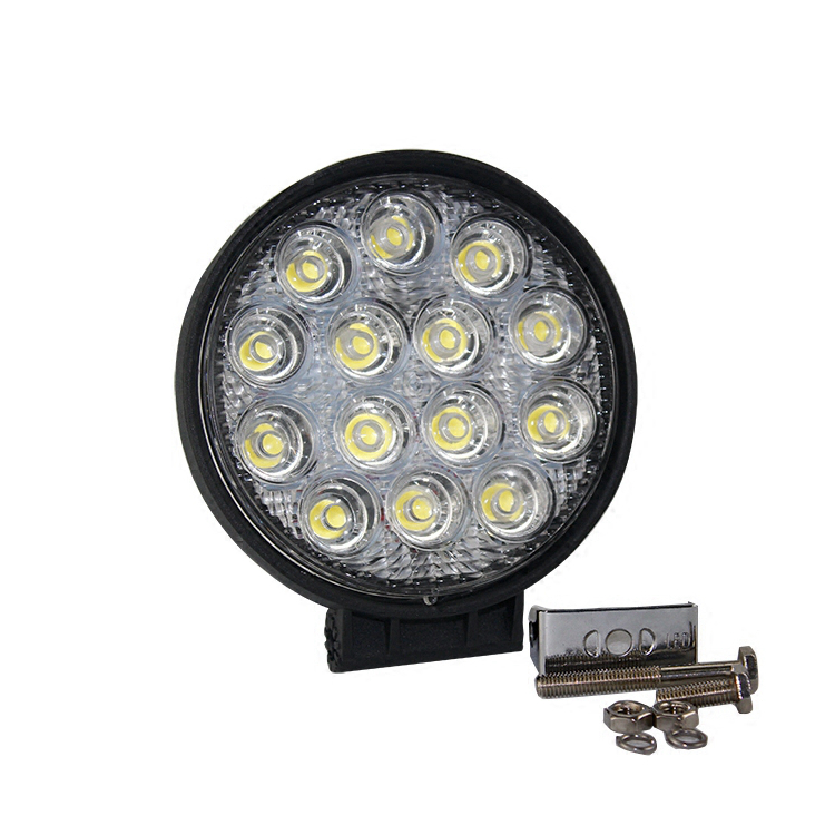 Free shipping 42W 7 inch LED Work Light Bar 14 X 3w led chip Flood Spot Beam Spotlight Offroad Light Bar Fit ATV outdoor light 1pc free shipping 10 30 v dc 39 8inch 192w mix 3w and 10w cree chip led light bars led work light bar for trucks offroad