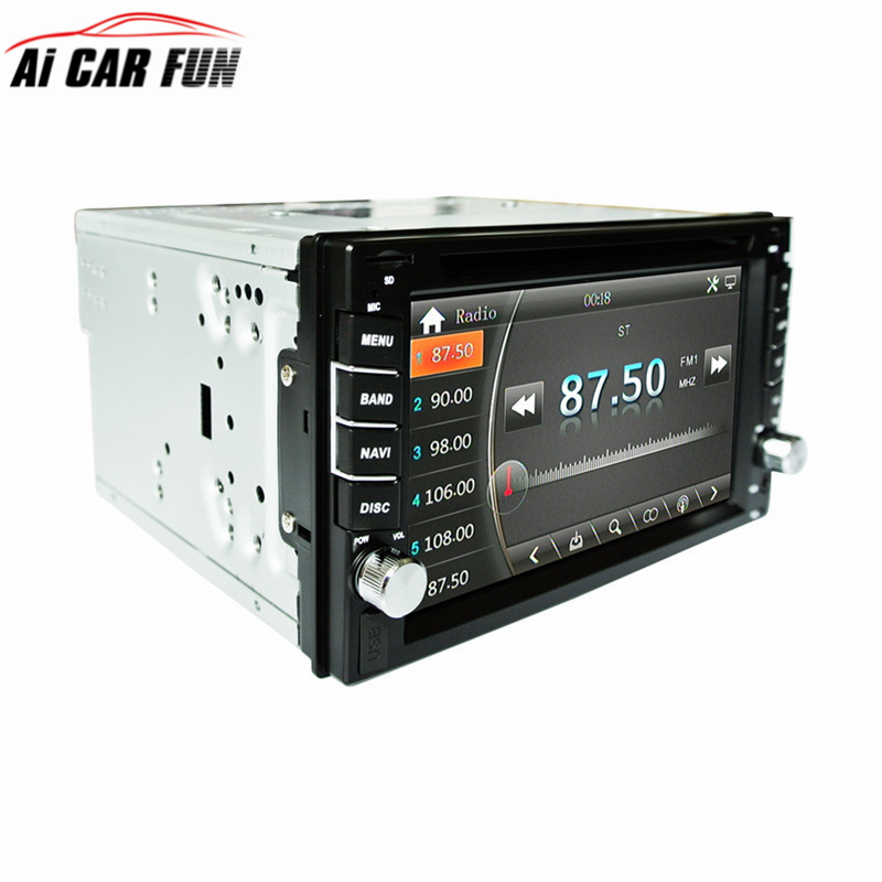 Universal 2Din Car DVD Player GPS Navigation 6.2 inches Car Stereo Radio GPS Bluetooth USB/SD Player Car Radio Player 2din 7inch car bluetooth mp5 player reversing rear view camera function car radio gps navigation car radio media player rk 7157g