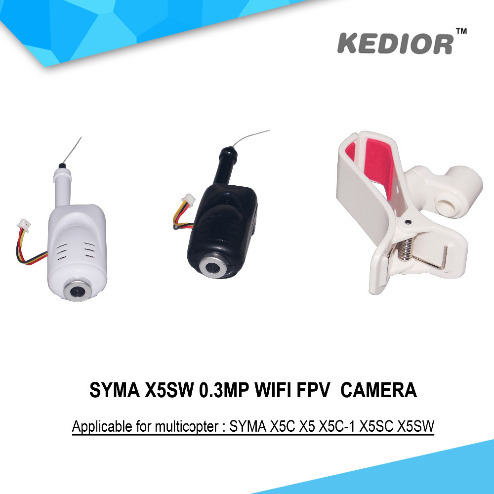 Hot Sell 0.3MP WiFi FPV Camera For Syma X5C X5 X5C-1 X5SC X5SW RC Drone Quadcopter Spare Parts Camera Can Add Phone Holder