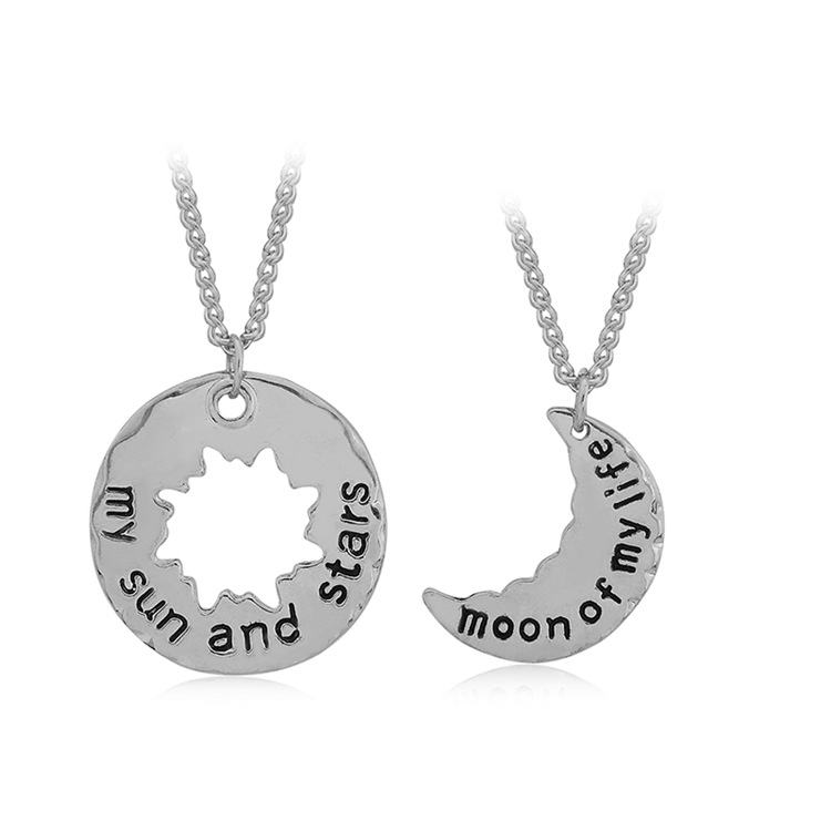 RE The Song Of Ice And Fire My Sun And Stars Moon Of My Life Generic Fashion Gold Ana Silver Couples Pendant Necklace