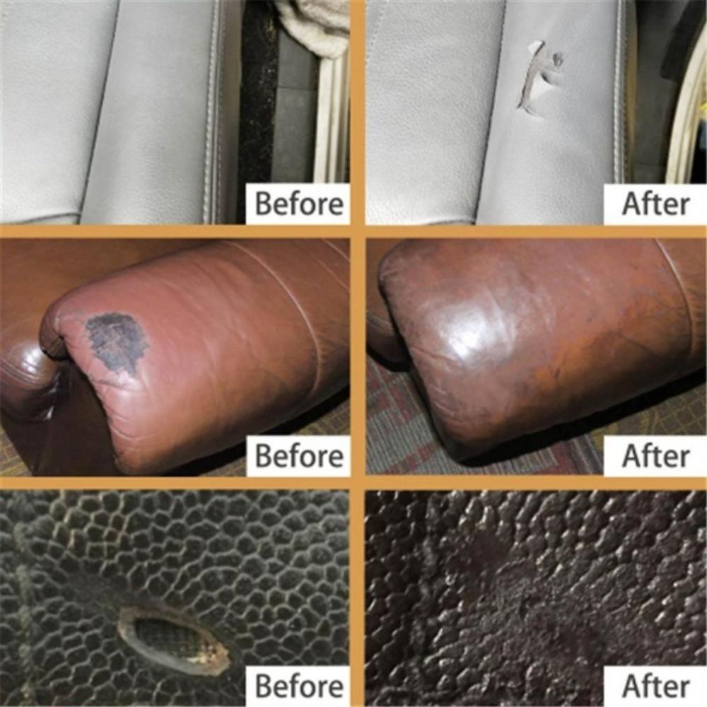 Горячая Универсальный кожаный инструмент для ремонта 20 мл/60 мл на сиденье в машину на диван Пальто Отверстия царапины трещины без тепла жидкая кожа винил ремонтный комплект