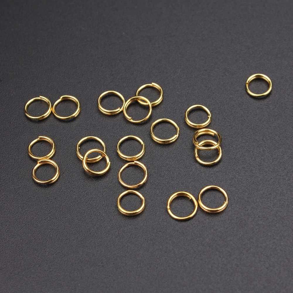 200 pcs/bagHIGH quatity bronze salto anéis & split rings atacado/branco/prata/ouro Tom split anéis 5mm jewelry making Achados