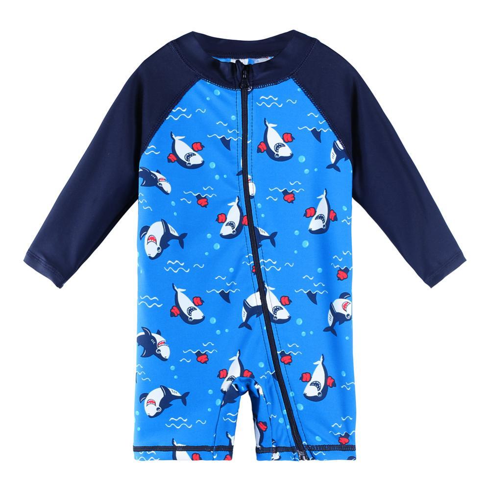 Boys' Long-Sleeve Batching Swimwear