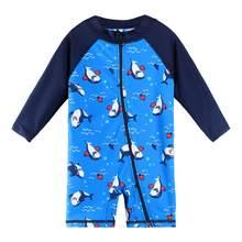 Baohulu maiô infantil upf50 + de desenhos animados, roupa de banho de manga longa para meninos e crianças pequenas, uma peça meninas meninas