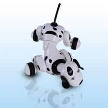 Высокое качество 338-777 RC умная собака Робот г 2,4 г RC умный симулятор Мини собака белый розовый для детей подарок