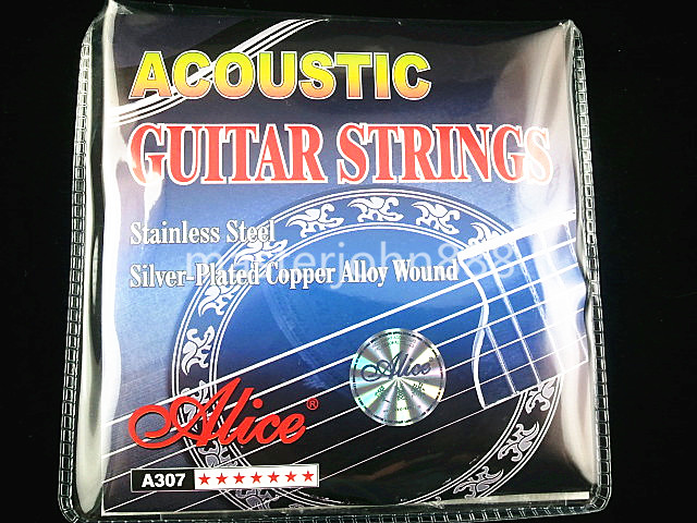 New Alice A307-SL Acoustic Guitar Strings Silver-Plated Copper Alloy Wound 1st-6th Strings Wholesales Free Shippng