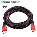 De alta Velocidad de Cable HDMI Chapado En Oro Conexión HDMI a HDMI cable con Rojo, blanco y negro de malla 1080 P, 1 m, 1.5 m, 1.8 m, 3 m, 5 m, 10 m
