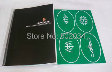 ФОТО Temporary Airbrush Tattoo Stencil Template Booklet 8 100 designs for glitter tattoo kits supplies free shipping