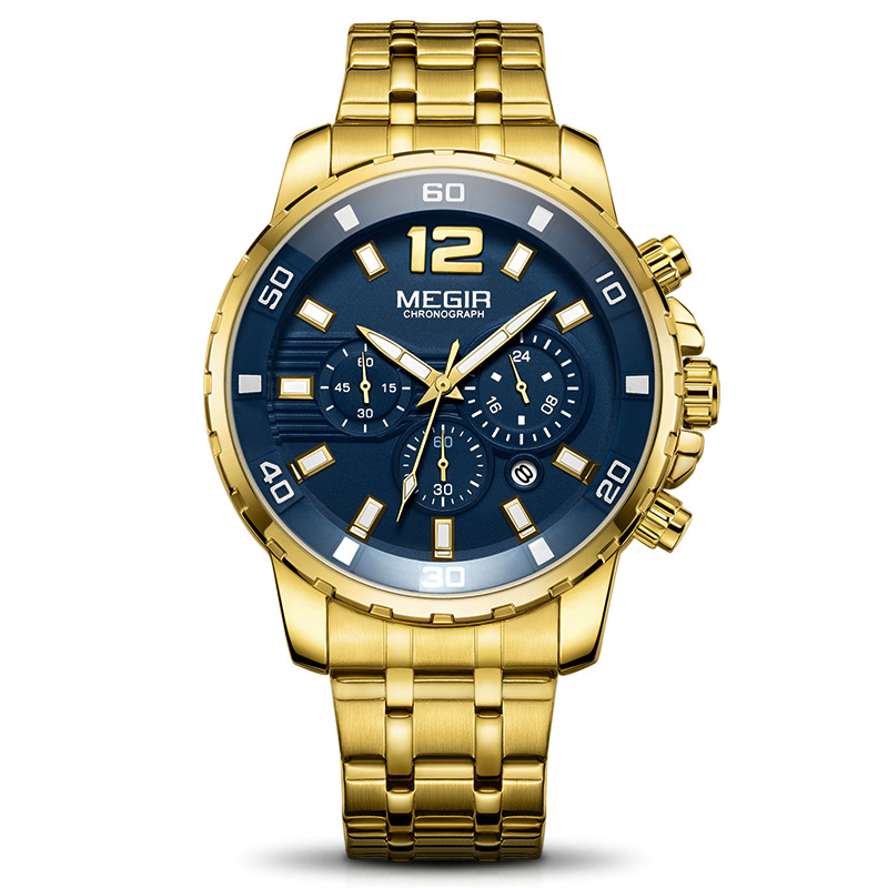 Multi-function Business Mens Watches Luxury Casual Sports Steel Imitate Wrist Watch Waterproof Quartz Chronograph WatchMulti-function Business Mens Watches Luxury Casual Sports Steel Imitate Wrist Watch Waterproof Quartz Chronograph Watch