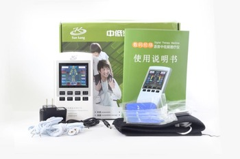 110-240V Charge EMS Electrotherapy Physiotherapy Pulse Massager Muscle Stimulator Acupuncture Stimulator +6 Electrode sheet