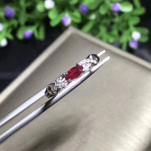 Image 1 - Bague en rubis naturel en argent sterling 925, style simple et exquis, prix bon marché, recommandé par le propriétaire, couleur authentique
