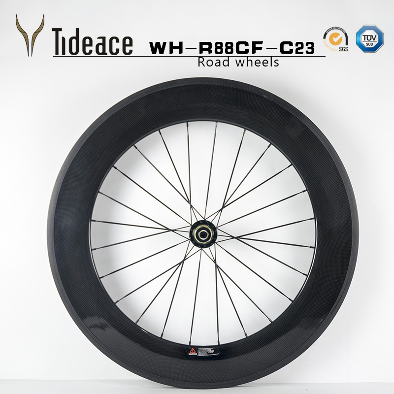 Ultra Light 700C a pair bicycle 88mm Clincher or Tubular Road Bike Carbon Wheels 23mm Width Bicycle Wheelset offer Brand decals мужская обувь