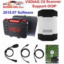 Dhl livre original vxdiag c6 doip & áudio obd2 ferramenta de diagnóstico para benz sem fio conectado melhor do que c4/c5 obdii caminhão scanner