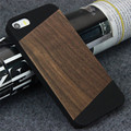 Natural Real Bamboo Wood Wooden Hard Back Case Cover For iphone se 5 5s shockproof cherrywood unique design phone cover