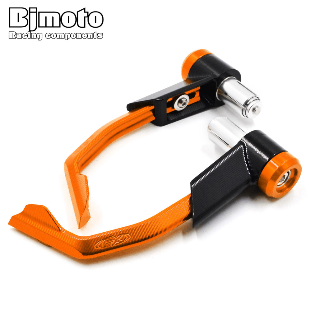 Universal 7/8 Motorcycle CNC Aluminum Handlebar Brake Clutch Lever Guard For Kawasaki  Ninja 250/ABS/R Ninja 650 300 Ninja 400 for kawasaki ninja 250 ninja250 2008 2015 ninja 300 ninja300 2013 2015 motorcycle aluminum short brake clutch levers black