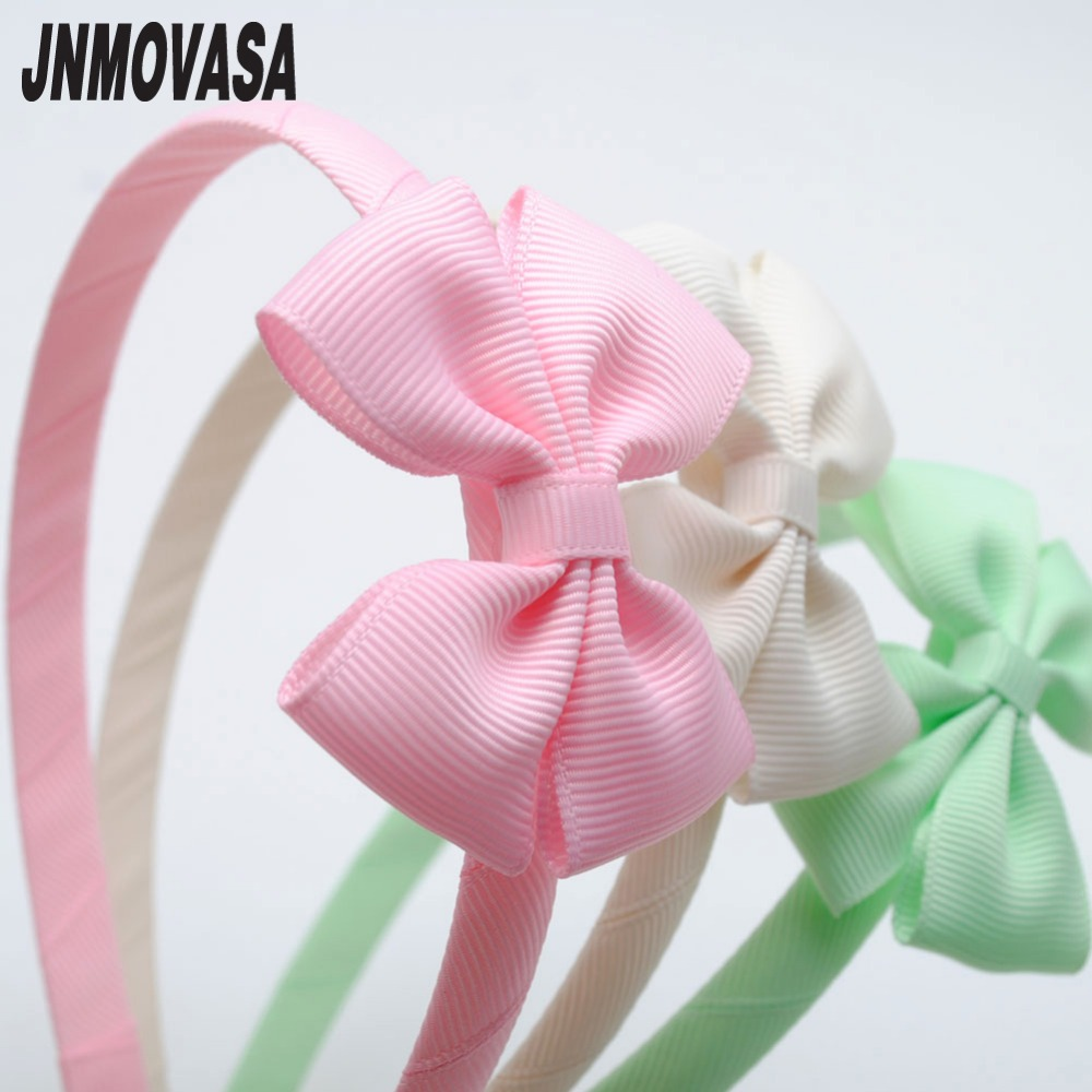 1pc Solid Colors Little Bows Baby Toddler Hairbands Kids Headbands Children Hair Hoop Boutique Tiara Hair Accessories For Girls