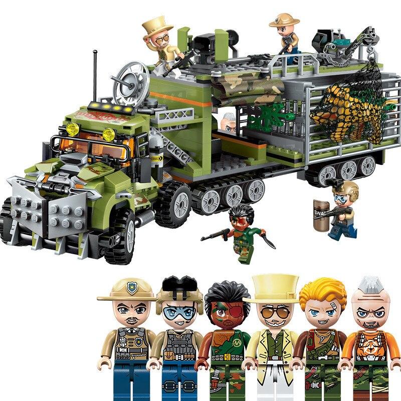 658pcs kinderen educatief bouwstenen speelgoed Compatibel Legoingly stad Sin Moving Fortress Stad Politie cijfers Bricks-in Modelbouwen Kits van Speelgoed & Hobbies op  Groep 1