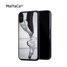 цена на ballet shoes silicone soft edge hard back mobile phone cases for iphone 4s 5 5c 5s 5se 6s 6plus 7 7plus case cover