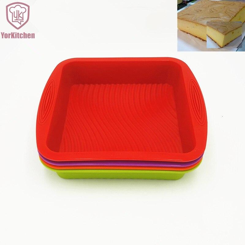 26.5 * 24.5 * 5 CM 190G de silicona de mayor venta Cuadrado 3D Cake - Cocina, comedor y bar