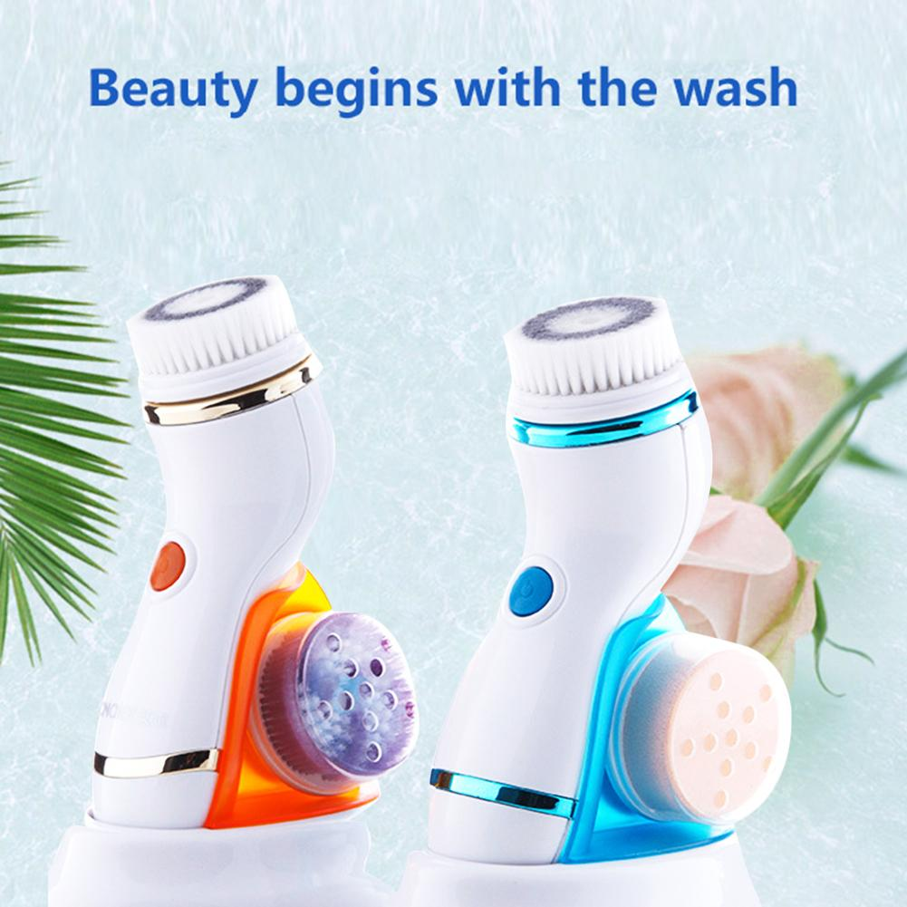 1pcs Electric Rotating Face Brush Ultrasonic Cleanser Whitening Blackhead Removal Oil-control Electric Facial Cleansing Brush