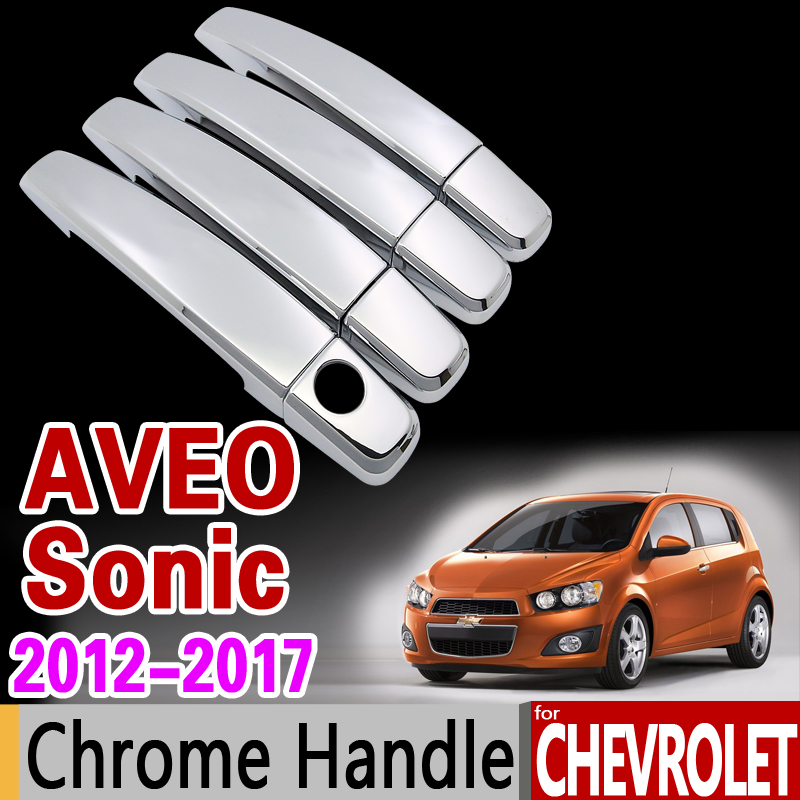 FOR CHEVY LOVA AVEO 10-11 CHROME 4 DOORS HANDLES COVERS W//OUT PASSENGER KEYHOLE