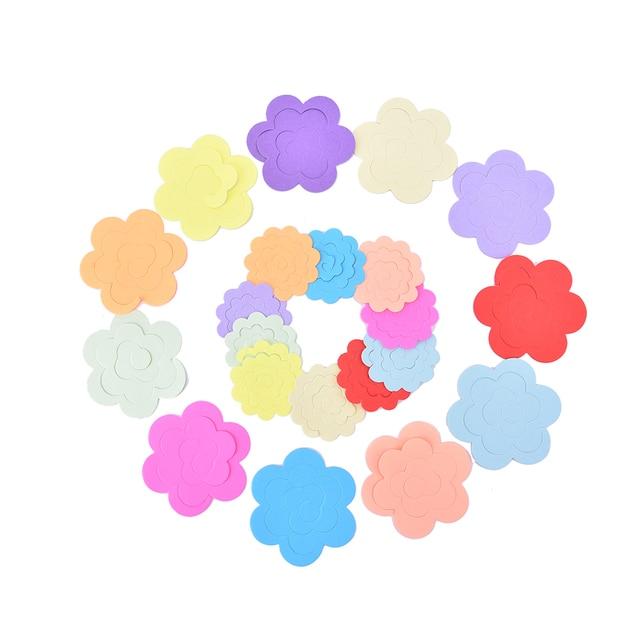 22 pcs lot papier quilling fleurs rose papier de bricolage à la main