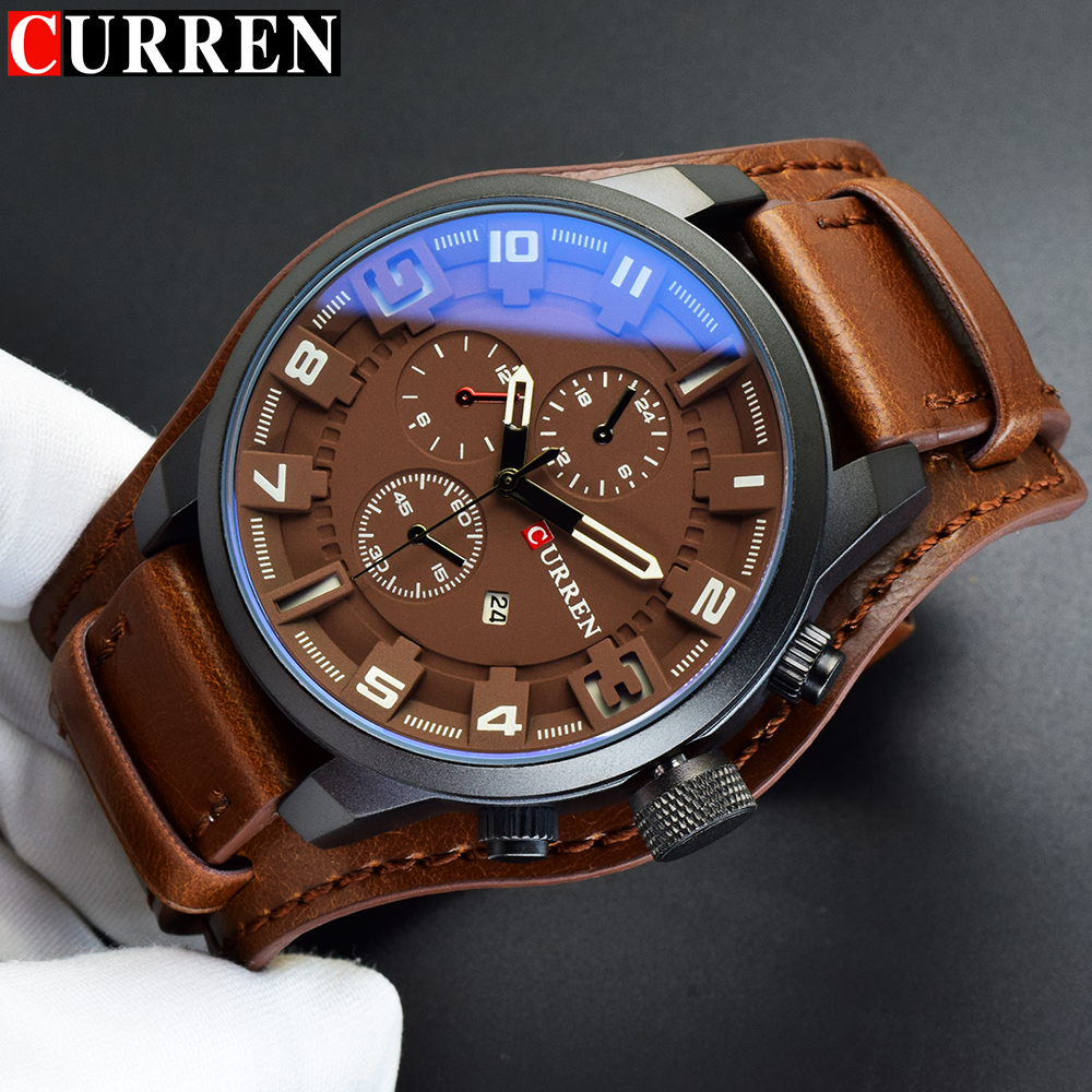 Curren army military man watch 2017 men 39 s sports quartz watch male wrist watch man clock relogio for Celebrity watches male 2017