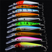 2016 10pcs/lot Super Price Fishing Lure Floating Minnow Fishing Tackle Seawater Fishing Artificial Bait CrankBait Japan Hooks 50