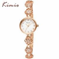 Kimio Brand Luxury Women S Watches Flowers Lady QuartzWatch Fashion Bracelet Women Watches Diamond Relogio Feminino
