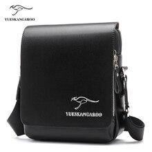 YUES KANGAROO Famous Brand Leather Men Bag Casual Business Mens Messenger Bag Vintage Men's Crossbody shoulder Bag bolsas male