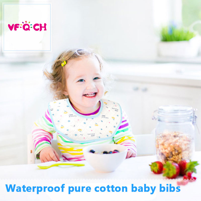 Waterproof Baby Bibs Burp Cloth Bandana Drool Bibs 3 layers Saliva Towel For Todder Scarf Infant Breathable Bib Apron baberos
