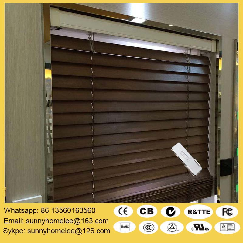 Online Buy Wholesale Motorized Wood Blinds From China