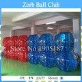 Envío gratis 10 piezas (5 azul + 5 rojo + 1 Bomba De) 1,5 m TPU de pelota de fútbol burbuja Bola de parachoques