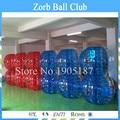 Il trasporto Libero 10 PCS (5 Blu + 5 Rosso + 1 Pompa) 1.5 m TPU Pallone Da Calcio Bolla, Bolla Palla Paraurti