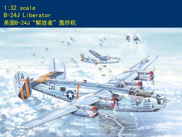 Hobby Boss 83211 1/32 Plane Model Kit American B-24j Liberator Bomber Air Craft