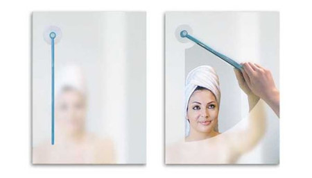 Bathroom Mirror Wiper Glass Mirror Clean Brush Suction Cup