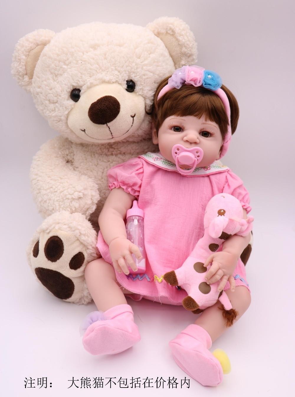 все цены на Dollhouse 55cm New arrival full Silicone adora Lifelike newborn Baby girl best kids bathe toy silicone Bonecas Bebe Reborn doll онлайн
