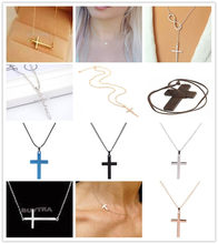 Cross Necklaces & Pendants For Men Stainless Steel Gold Sliver Colour Male Pendant Necklaces Prayer Jewelry Friend Gift(China)