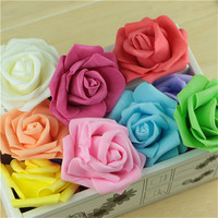 18 Color Handmade 100pcs Lot Artificial Foam Roses PE Foam Rose Flower Head DIY For Wedding