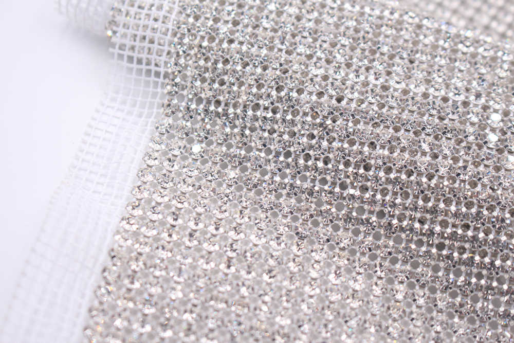 f3722fed83 24 Rows Rhinestones Strass Mesh 5 Yards Ss18 4.2mm Crystals Glass  Rhinestone Trimming non Tot Fix Sew On Rhinestones For Clothes