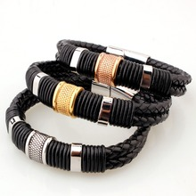 Tisnium Hip Hop Boy Black Bracelet Cortical Bilayer Texture Hot Sale Fashion Jewelry and Accessories Wholesale Retail Gift wholesale and retail military medals hot sale zinc alloy carving medal