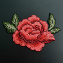1Pcs Rose Flowers Sew On Patches For Clothing Embroidered Ap