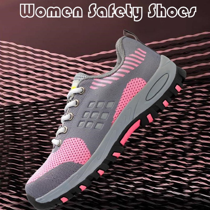 Women Safety Shoes Steel Toecap Security Protection Leisure Footwear Anti-piercing Slip Summer Prefer Lightweight Camping Sports