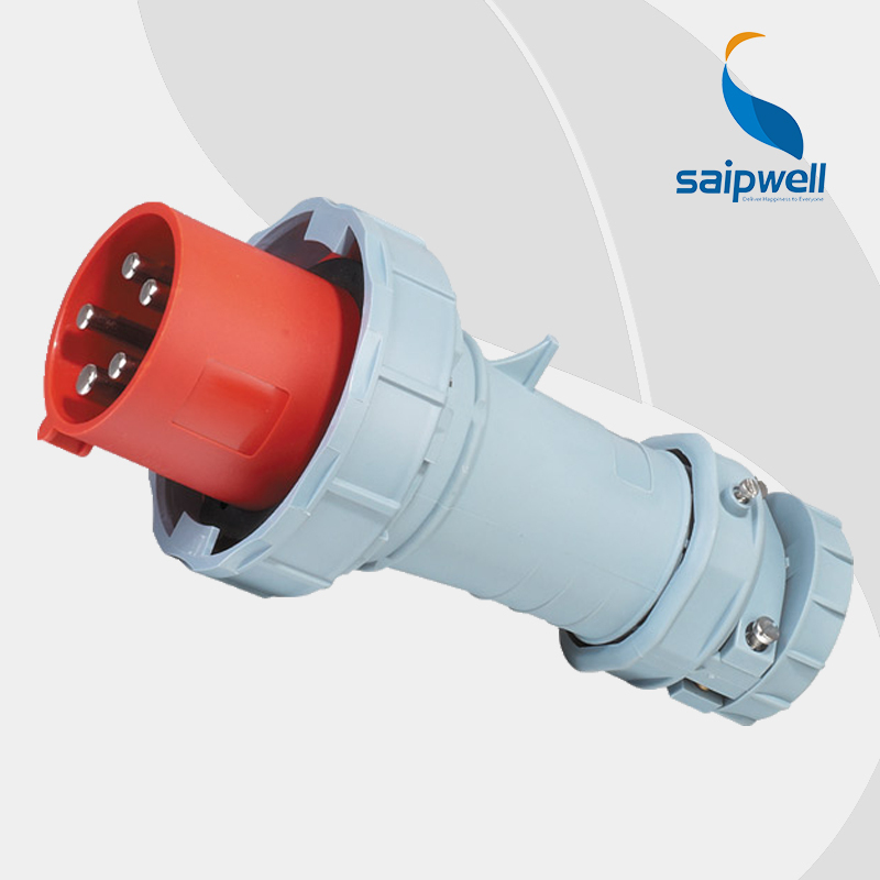 125A 400V 4P (3P+E) 4 pin cee 125 amp male industrial plug EN / IEC 60309-2 4-pin Power IP67 Splash Proof Type SP1443 63a 400v 5p 3p n e industrial waterproof electric female socket wall mounted splash proof ip44 en iec 60309 2 type sp1145
